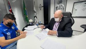Augusto Galván assinou contrato com o Santos até a metade de 2022