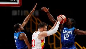 Kevin Durant brilhou na vitória dos EUA sobre a Espanha nas quartas de final da Tóquio-2020