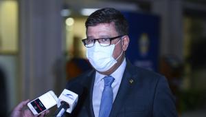 Senador Carlos Viana (PSD-MG) concede entrevista