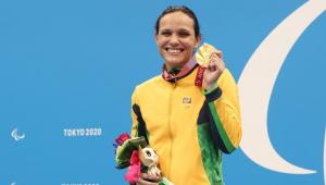 A nadadora Carol Santiago ganhou duas medalhas no sétima dia das Paralimpíadas de Tóquio