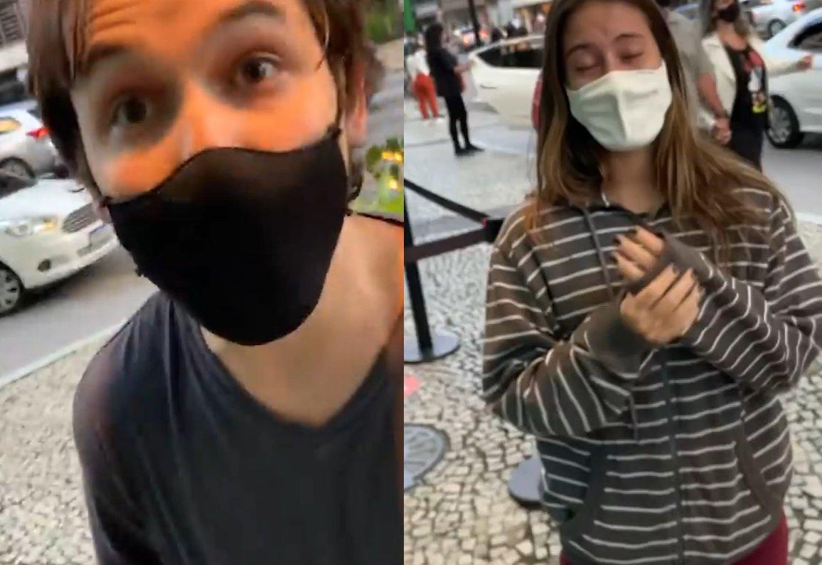 montagem de casal acusado de racismo