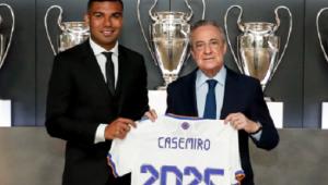 Casemiro renovou com o Real Madrid até 2025