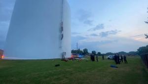 tanque de altura de prédio de sete andares