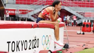 Thompson sentiu uma lesão no tendão de Aquiles durante a Tóquio-2020