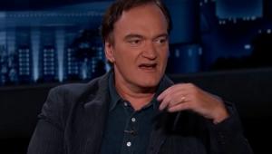 Quentin Tarantino dando entrevista