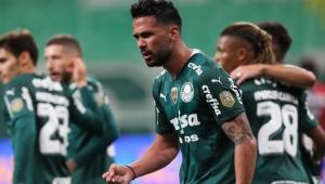 Jogadores do Palmeiras em campo
