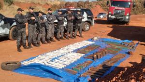 Polícia detonou 100 kg de explosivos