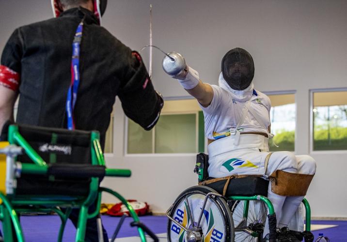 Esgrima em CR é um dos esportes mais antigos das Paralimpíadas