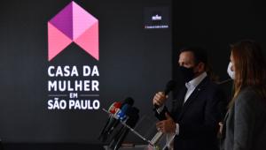 João Doria, (PSDB) Governador de São Paulo, participa do lançamento do programa Casa da Mulher em São Paulo