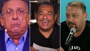 Vampeta revelou os times de Galvão, Alê Oliveira e outros jornalistas esportivos