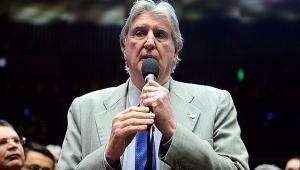 O cantor Sérgio Reis enquanto deputado federal