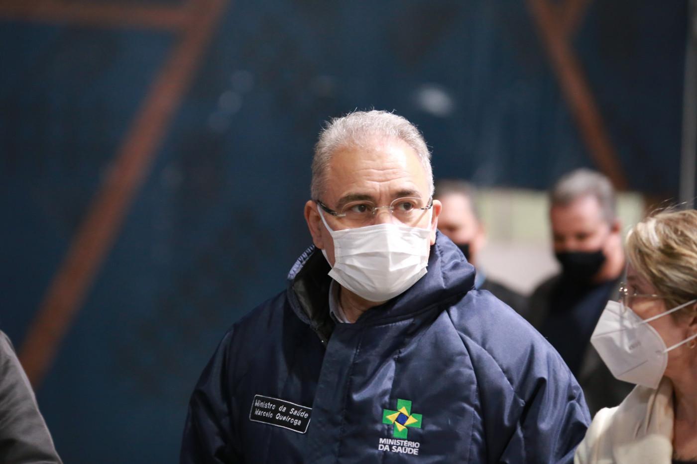 Ministro da Saúde, Marcelo Queiroga, visita às instalações da Central de Vacinação Contra a Covid-19