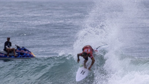 Ítalo Ferreira na etapa do México do Mundial de Surfe
