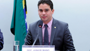 Deputado discursa em comissão da Câmara