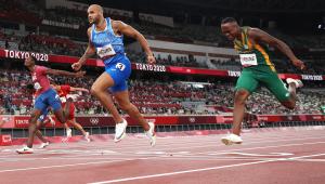 Lamont Jacob, da Itália venceu a prova dos 100 metros rasos na Tóquio-2020