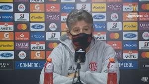 Renato Gaúcho em coletiva de imprensa