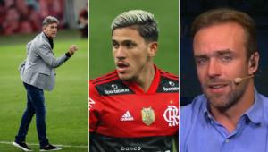 Renato Gaúcho respondeu Roger Flores após o comentarista fazer uma insinuação sobre o atacante Pedro