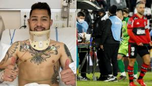 Salazar sofreu um traumatismo craniano na partida entre Olimpia x Flamengo pela Libertadores