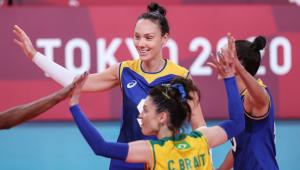 Seleção brasileira feminina de vôlei está nas quartas de final das Olimpíadas de Tóquio