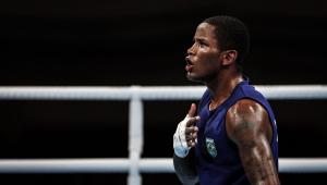 Wanderson de Oliveira foi derrotado nas quartas de final do boxe peso leve nos Jogos de Tóquio