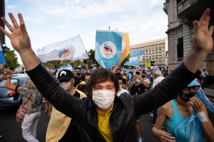javier milei, político da ultradireita argentina