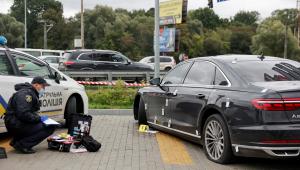 polícia pericia carro de conselheiro ucraniano alvo de atentado