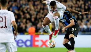 Mbappé durante partida entre PSG e Club Brugge, na Bélgica, pela Liga dos Campeões