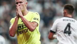 Erling Haaland marcou na vitória do Dortmund sobre o Besiktas