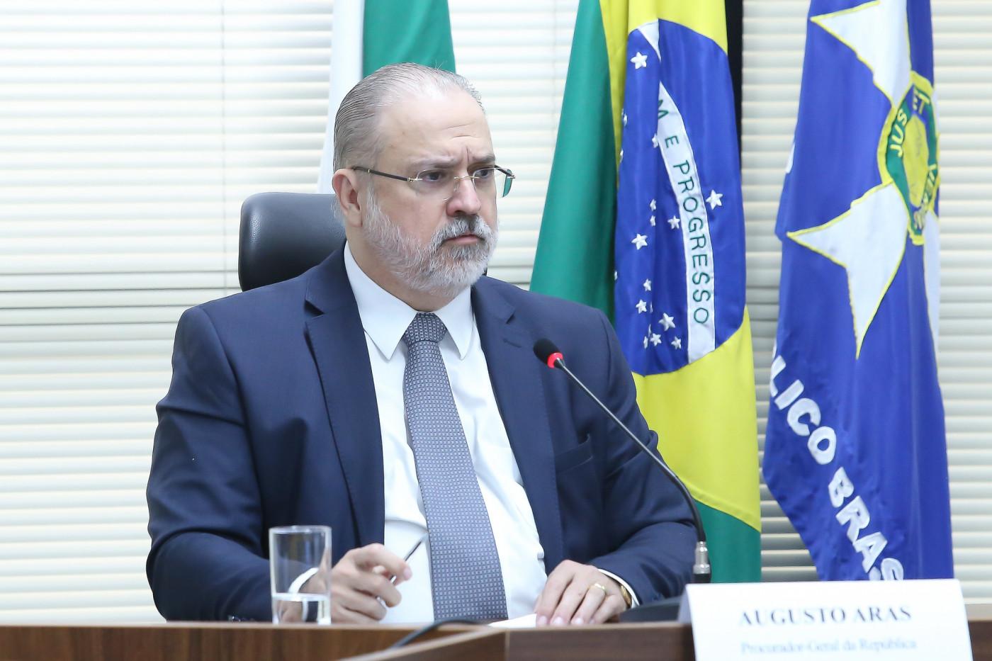 Procurador-geral discursa em evento no Planalto
