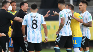 A partida entre Brasil e Argentina foi suspensa