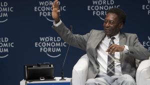 Pelé no Fórum Econômico Mundial de 2018