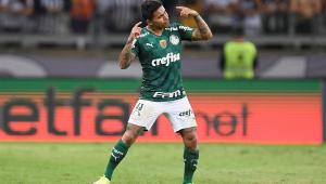 Dudu comemora gol na semifinal da Libertadores