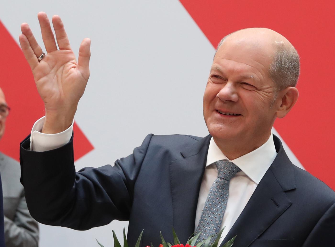 candidato do Partido Social-Democrata Alemão (SPD) Olaf Scholz