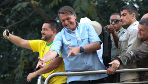 Presidente Jair Bolsonaro durante manifestação em São Paulo