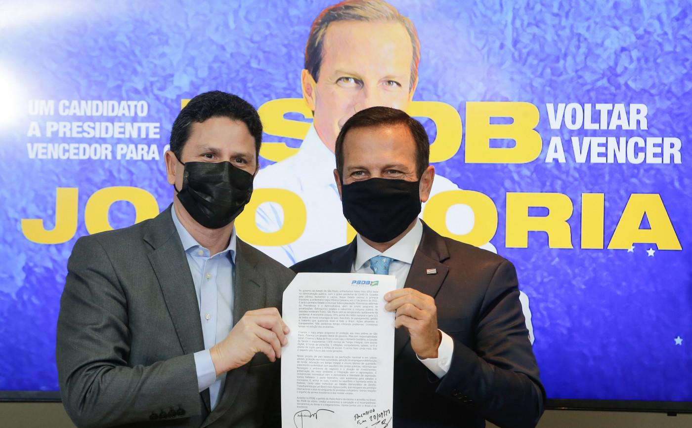Joao Doria apresenta candidatura nas prévias do PSDB