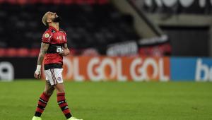 Gabigol foi expulso na partida entre Flamengo e Internacional
