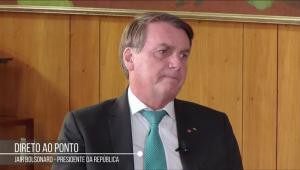 Presidente de terno concede entrevista