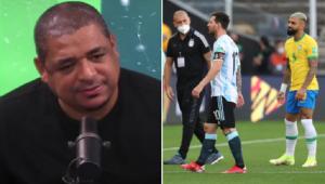 Vampeta criticou a paralisação de Brasil x Argentina