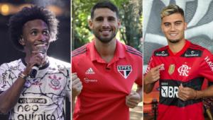 Willian, Calleri e Andreas Pereira foram destaques na janela de transferências