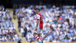 Xhaka durante derrota do Arsenal para o Manchester City pelo Campeonato Inglês