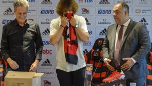 David Luiz foi apresentado como novo jogador do Flamengo
