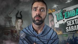 Cartaz do espetáculo Tá Embaçado com Fabio Rabin