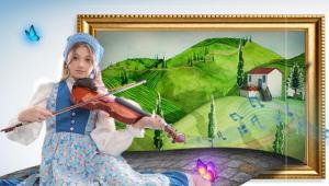 Protagonista de Ao Som de um Violino tocando o instrumento