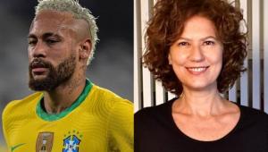 Montagem com fotos de Neymar e Patrícia Pillar