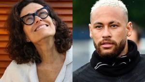 Montagem com fotos de Zélia Duncan e Neymar