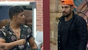 Tiago e Bil conversando em A Fazenda 13