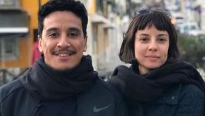 Marco Gonçalves e Andréia Horta posando para a foto