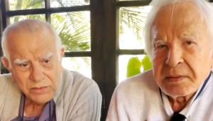 Cid Moreira com o irmão, Célio Moreira