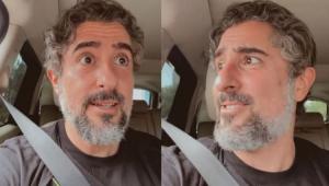Marcos Mion dentro do carro dirigindo