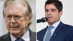 Montagem com foto de dois dirigentes partidários